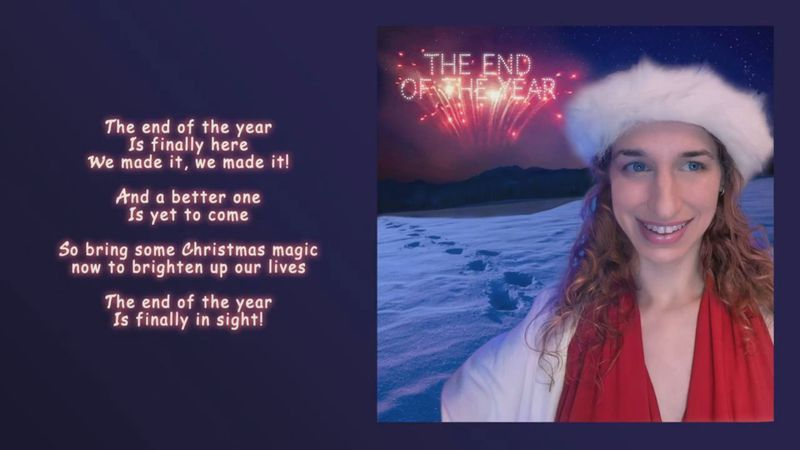 """""""End of the Year"""" was inspired by the challenges of 2020 and hope for a better year ahead."""