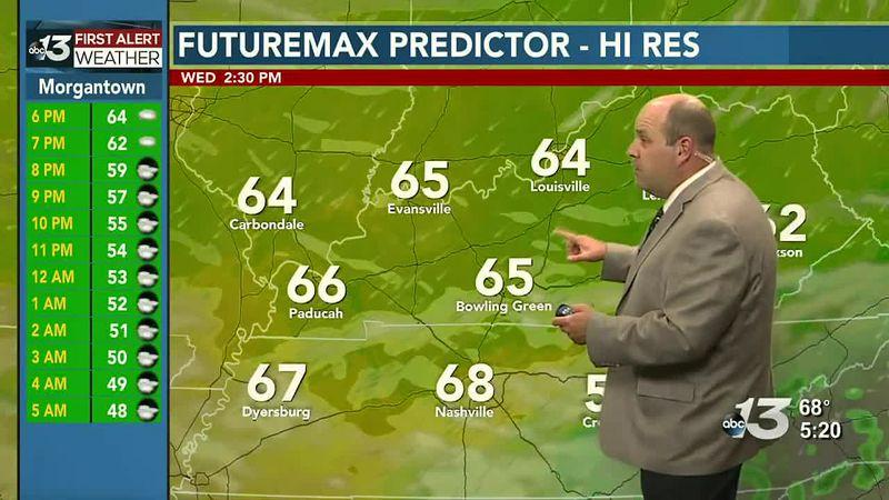 Warming trend gets underway starting Thursday!