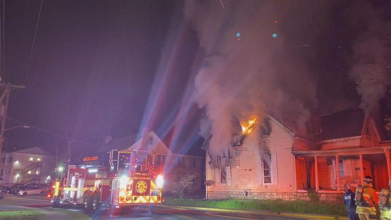 House fire in BG