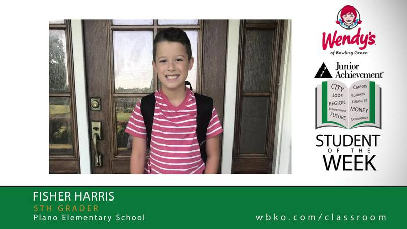 The JA Student of the Week is Fisher Harris,