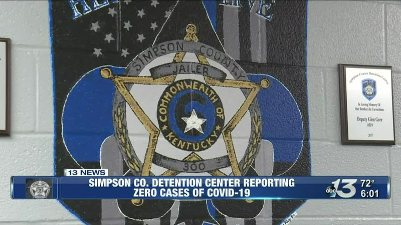 The Simpson County Detention Center is reporting zero cases of COVID-19