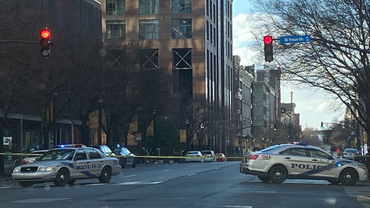 An area of downtown Louisville is being evacuated due to an RV parked in the area.