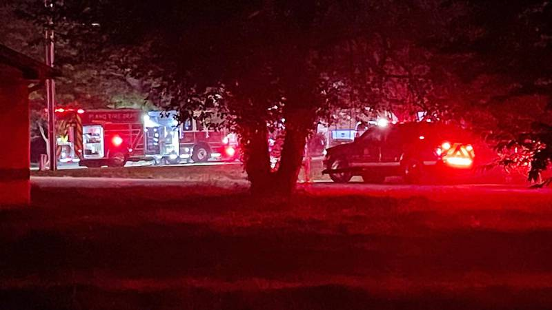 Multiple agencies respond to a house fire.