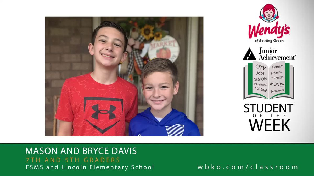 The JA Students of the Week are Mason and Bryce Davis