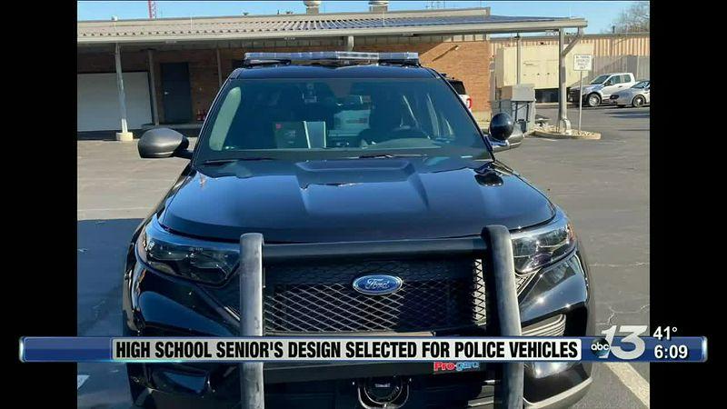 Good News: High School Seniors Design Selected for Police Vehicles