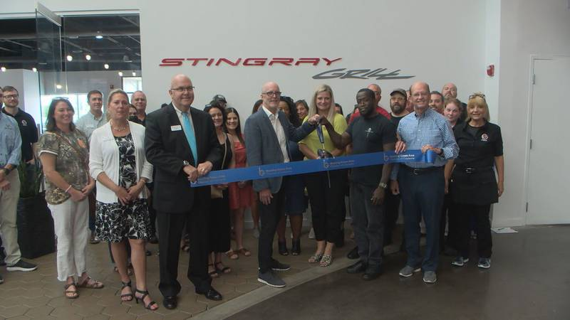 Stingray Grill ribbon-cutting at the National Corvette Museum.