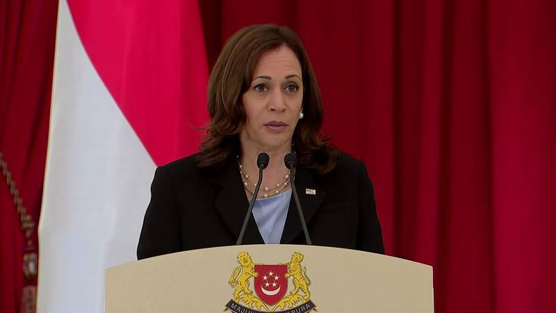 Vice President Kamala Harris, who is on a weeklong swing through Southeast Asia, declared in a...