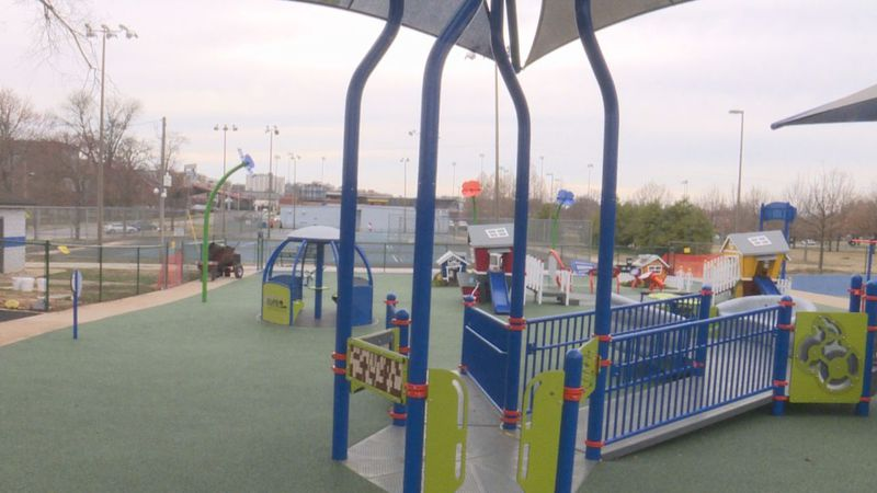 All-inclusive playground at Roland Bland Park near completion