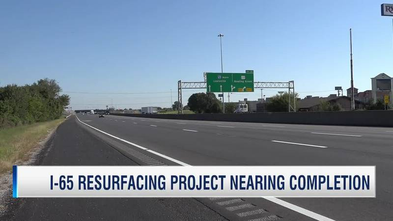 Resurfacing on I-65 in Warren County completed this week
