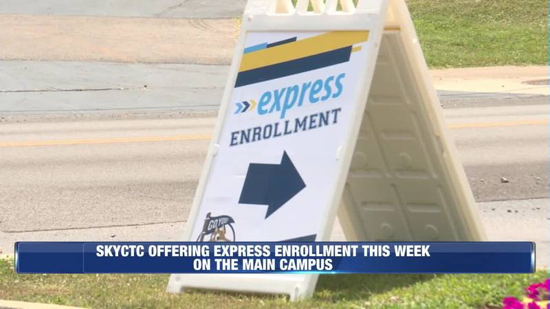SKYCTC Offering Express Enrollment This Week on the Main Campus @ 6