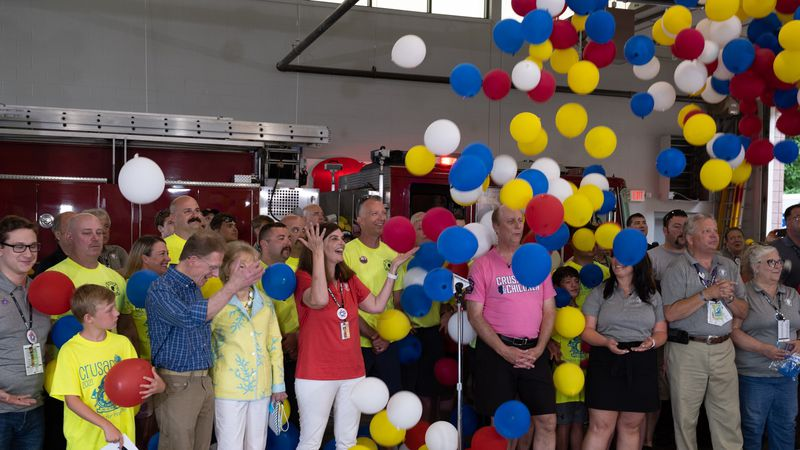 Balloon drop at the 68th WHAS Crusade for Children