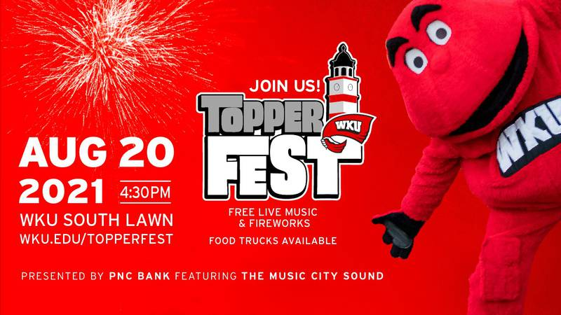 WKU is hosting Topperfest, an event being held on South Lawn at 4:30 on August 20.
