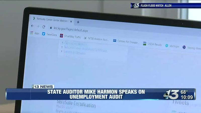 State auditor Mike Harmon speaks on unemployment audit