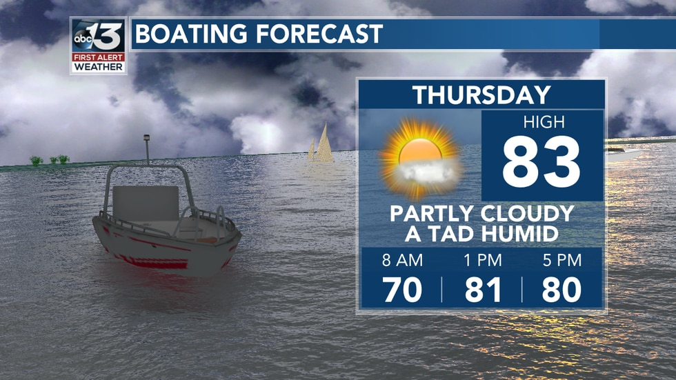 Today's boating forecast is nice with seasonable conditions!