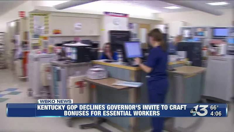 KY GOP Declines Governor's Invite to Craft Bonuses For Essential Workers