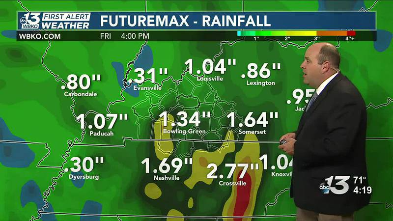 Locally heavy rainfall possible next two days