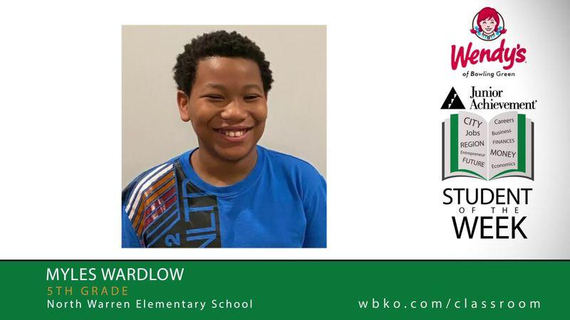 The JA Student of the Week is Myles Wardlow