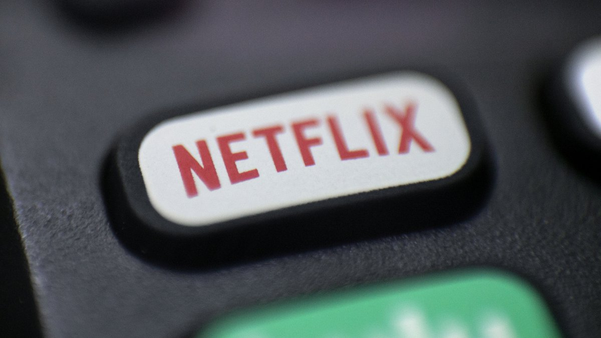 This Aug. 13, 2020, photo shows a logo for Netflix on a remote control in Portland, Ore. (AP...