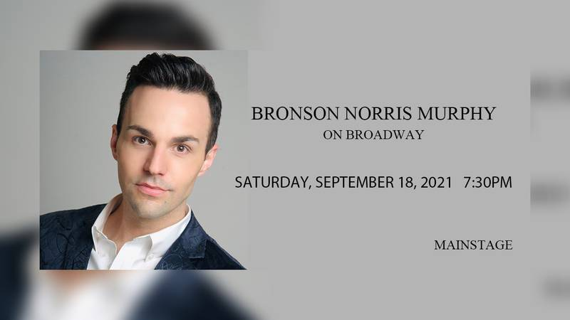 Bronson Norris Murphy will be at the SKyPac Saturday September 18.