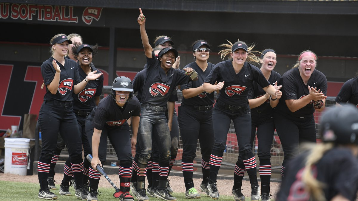 Western Kentucky Hilltoppers vs UAB Blazers on May 15, 2021 at the WKU Softball Complex in...