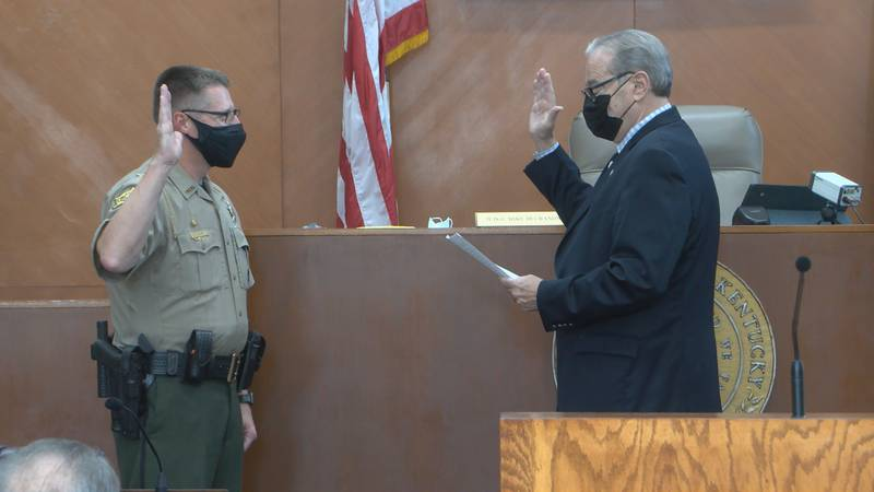 Swearing in of new WCPS director of school safety