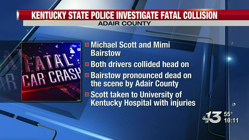 Kentucky State Police investigates fatal collision in Adair County