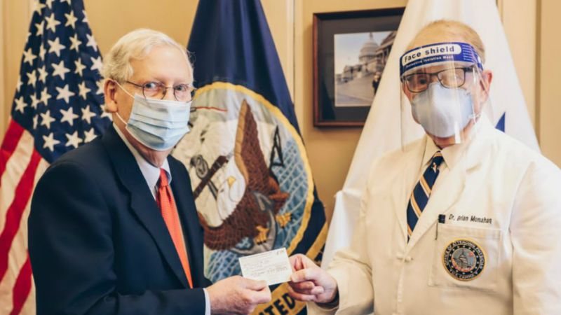 Sen. McConnell receives the COVID-19 vaccine