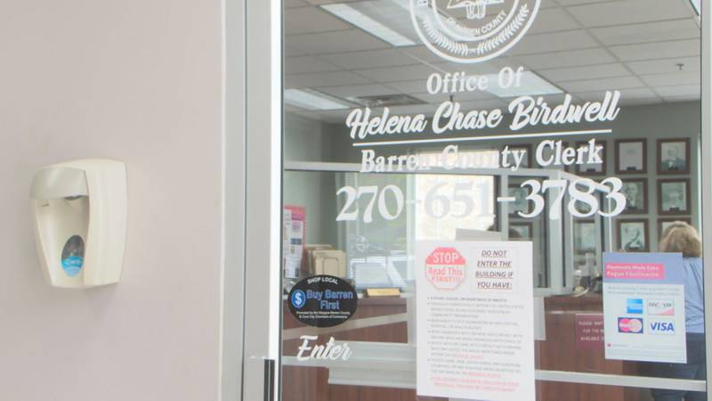 Barren County Clerk's Office closes following COVID exposure.