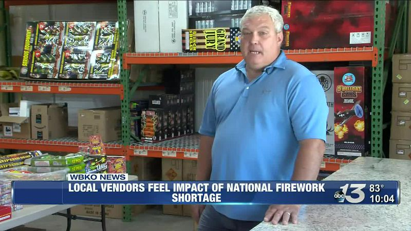 Firework shortage causes prices to increase, less inventory for local vendors