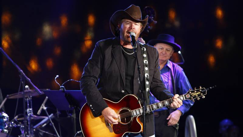 Toby Keith performs at the 60th Annual BMI Country Awards on Tuesday, Oct. 30, 2012, in...