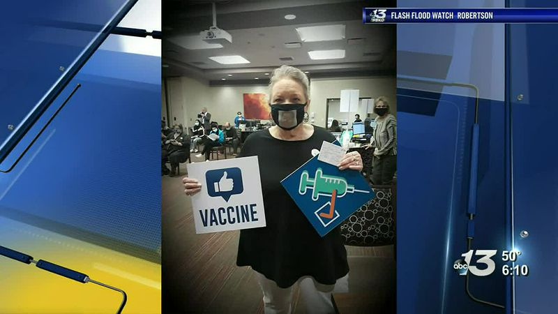 Good News: Woman gets second vaccine in honor of late sister