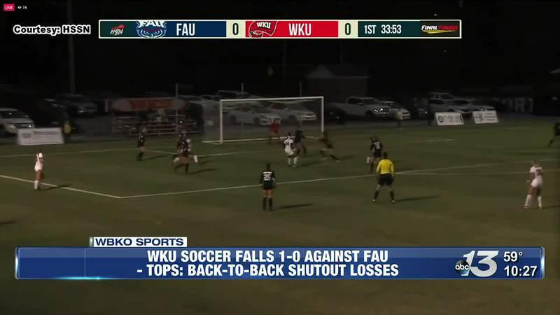 WKU Soccer Falls 1-0 Against FAU