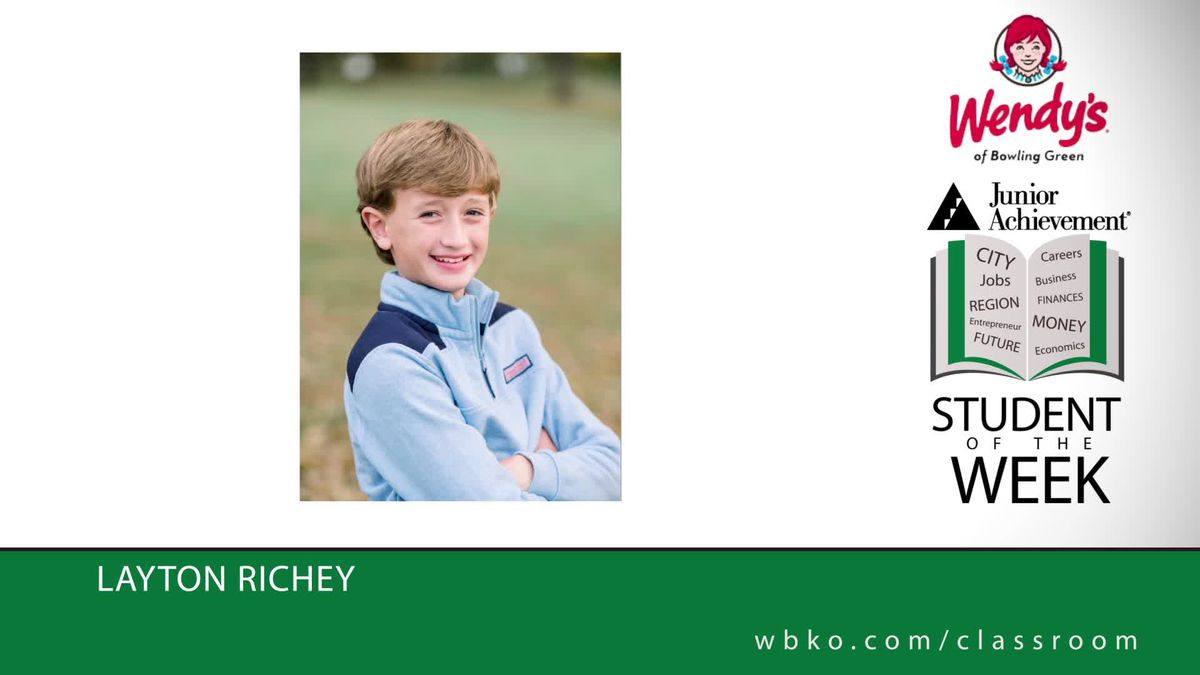 The JA Student of the Week is Layton Richey