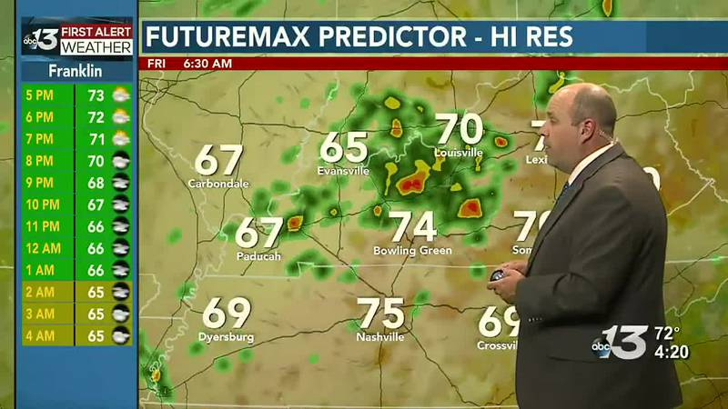 An unseasonably cool start to the long holiday weekend