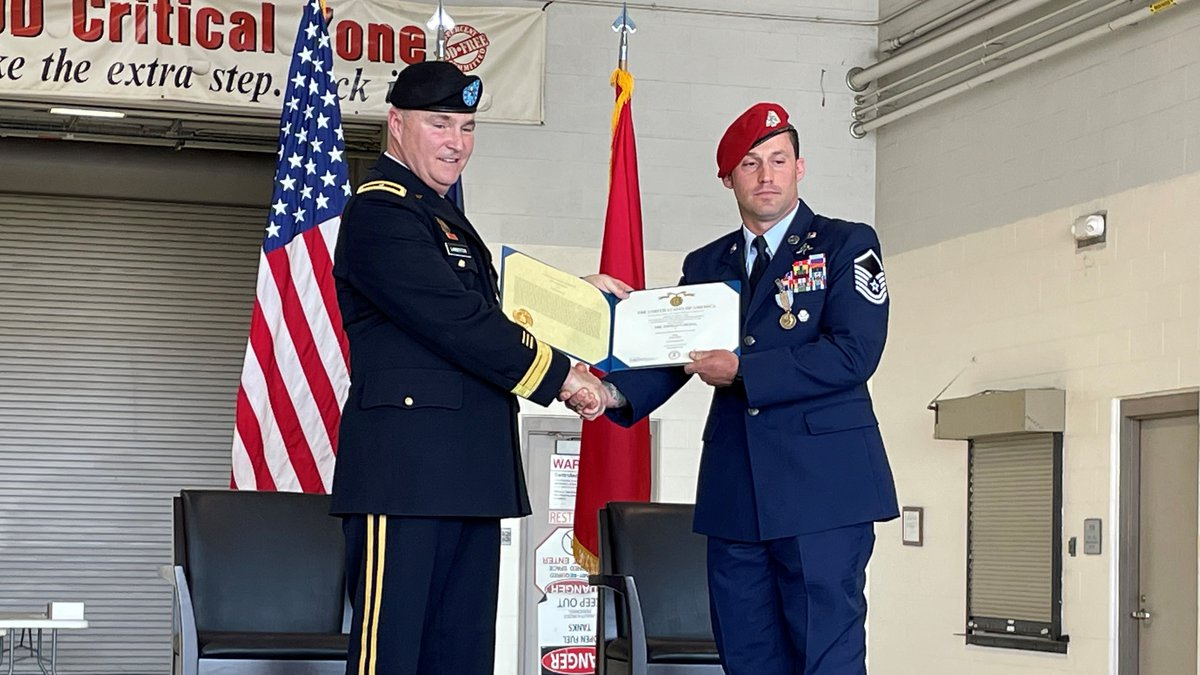 It's the highest medal given by the Air Force for non-combat heroism, and on Saturday, Master...