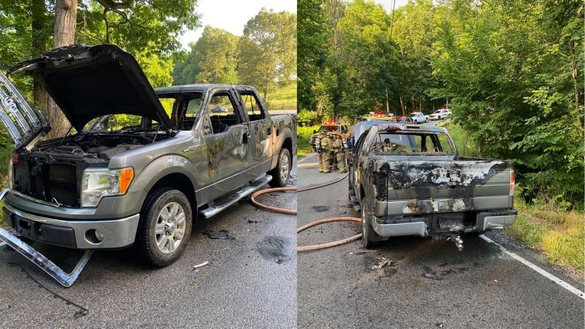 Truck burns when fireworks ignite while being transported