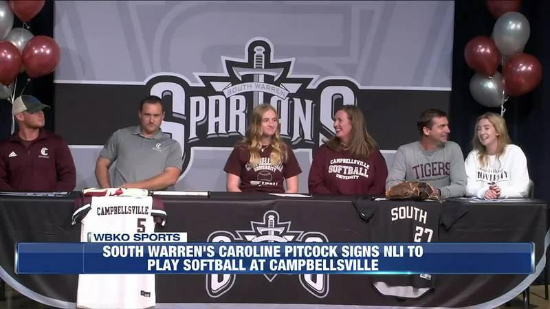 South Warren's Caroline Pitcock Signs NLI to Play Softball at Campbellsville
