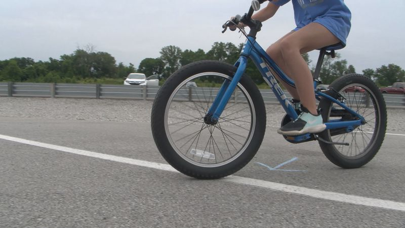 Children learn about bike safety at NCM Motorsports Park