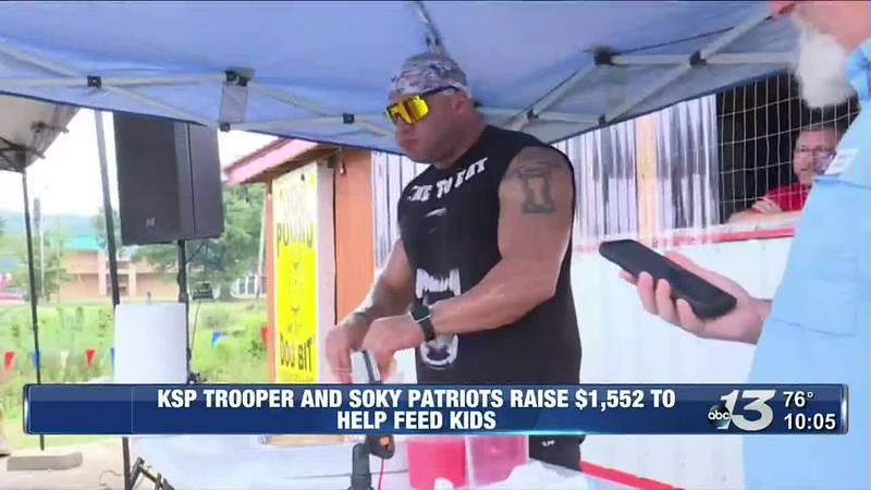 KSP Trooper eats 21 hotdogs in 10 minutes to raise money to feed kids