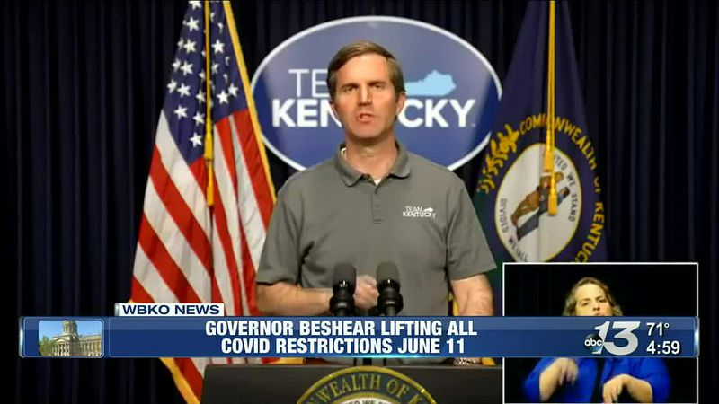 Gov. Beshear says Kentucky will return to full capacity at venues, events June 11 @ 5