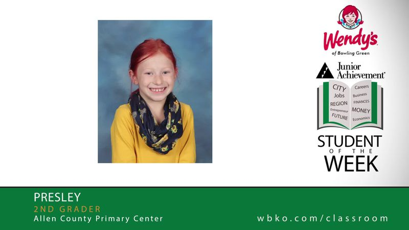 The JA Student of the Week is Presley