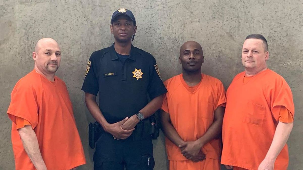The three men were praised in late July for alerting officials at the Gwinnett County jail when...