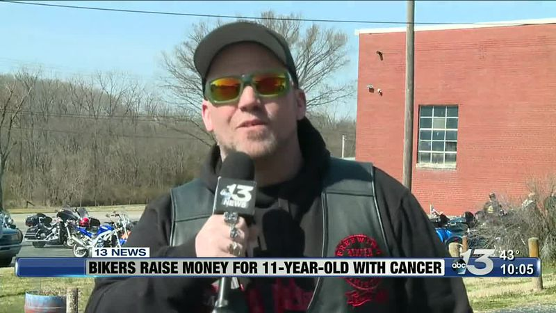 Local biker groups raise money for 11-year-old with cancer