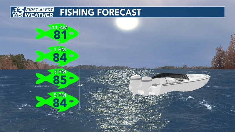 Gone fishing? Great weather to fish today, but we're tracking rain as we head into the weekend!...
