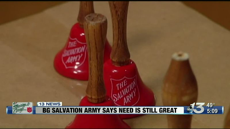 Bowling Green salvation army says the need is still great