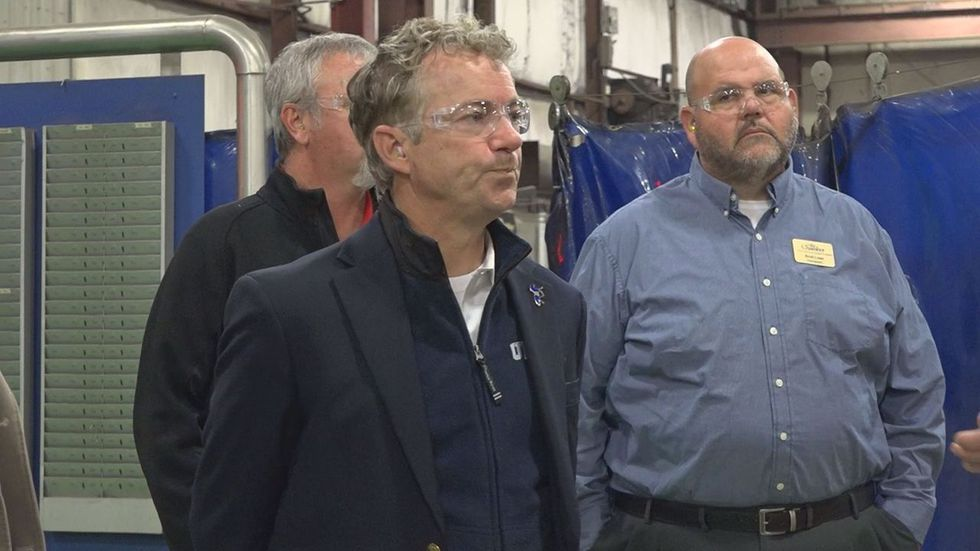 united states senator rand paul makes a stop in glasgow