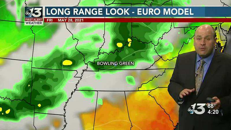 Near 90 Once More before Shower and Thunderstorm Chances Return