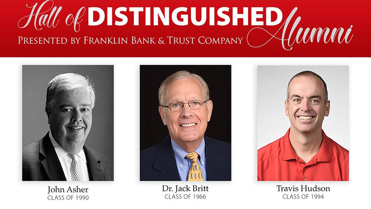 WKU Hall of Distinguished Alumni inductees. (Left to right) John Asher, Dr. Jack Britt, and...