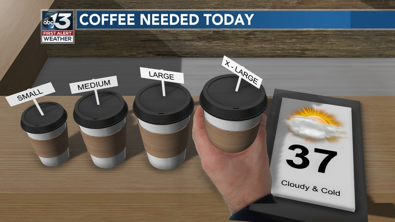 With the cold and gloomy conditions, an extra boost of caffeine may be needed!