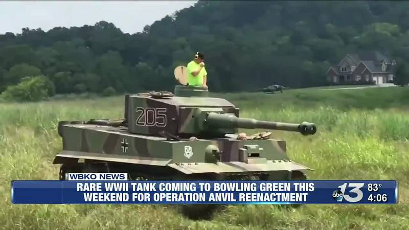 Rare WWII Tank Coming To Bowling Green this Weekend For Operation Anvil Reenactment @ 4